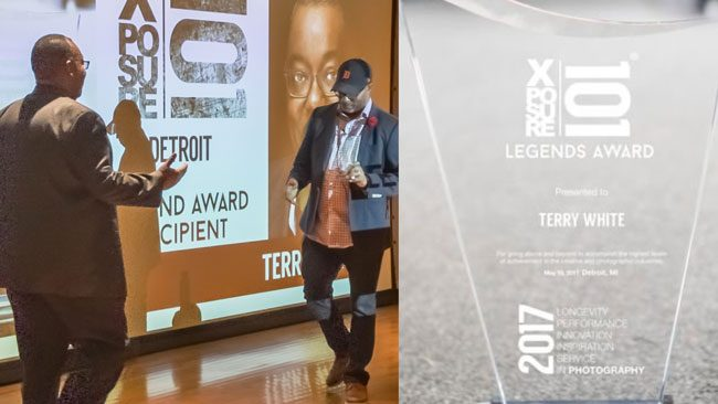 Terry White receives the 2017 XPOSURE101 Detroit Legends Award
