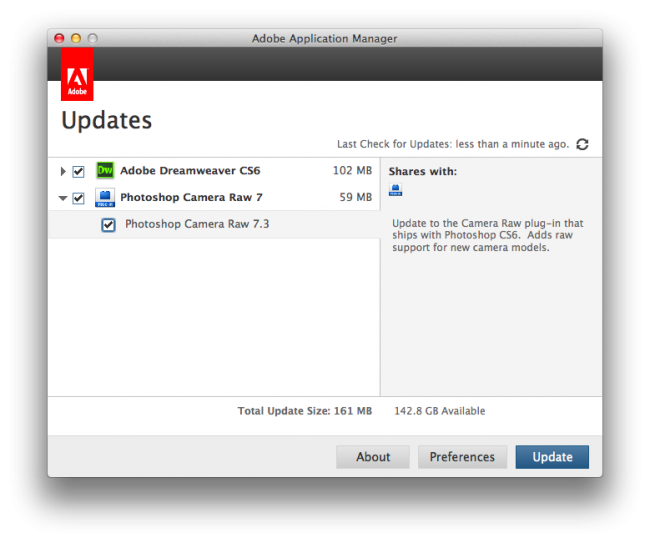 adobe cs6 updates mac