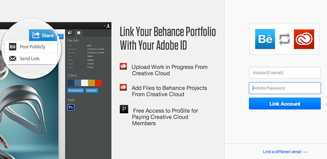 Behance ProSite is now included in Creative Cloud