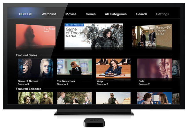Hbo go Apple tv no Picture Apple Adds Hbo go to Apple tv