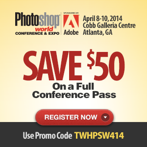 Save $50 on a Full Conference Pass to Photoshop World