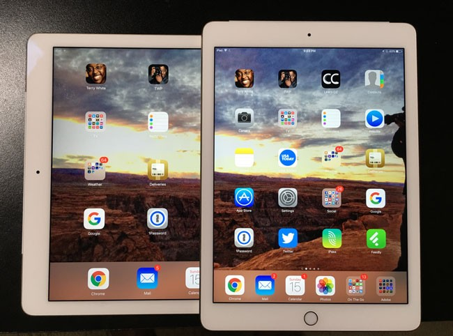 iPadAir2-on-top of iPad Pro