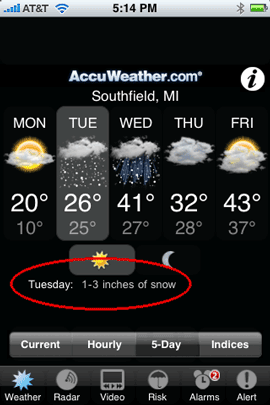 iPhone App of the Week - AccuWeather - Terry White's Tech Blog