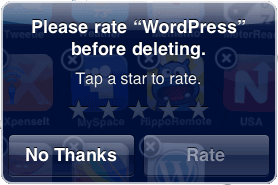 Rate upon deletion