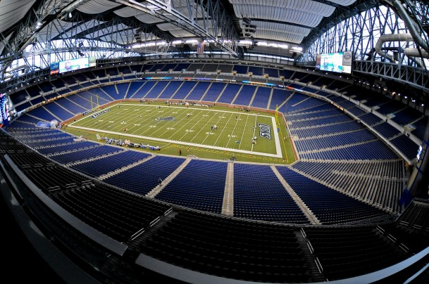 Ford Field shot by Scott Kelby using a Nikon 10.5mm on a D3