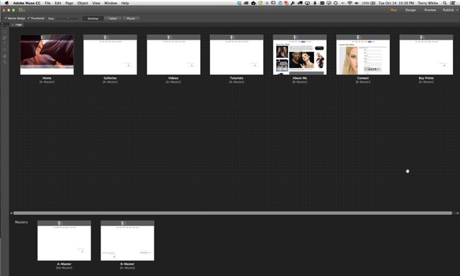 My Photography Website Makeover with Adobe Muse CC - Terry