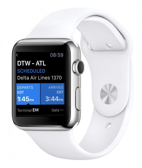 Mobiata made a great Apple Watch App - FlightTrack 5