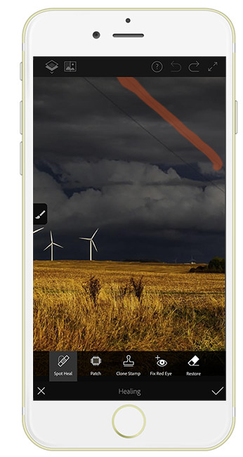 Photoshop Fix on iPhone 6s Plus