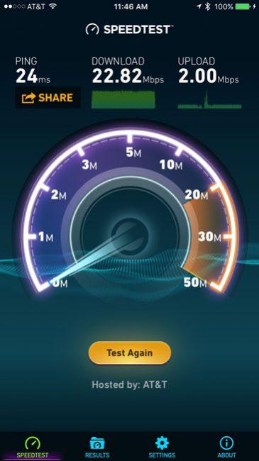 AT&T Uverse Speedtest