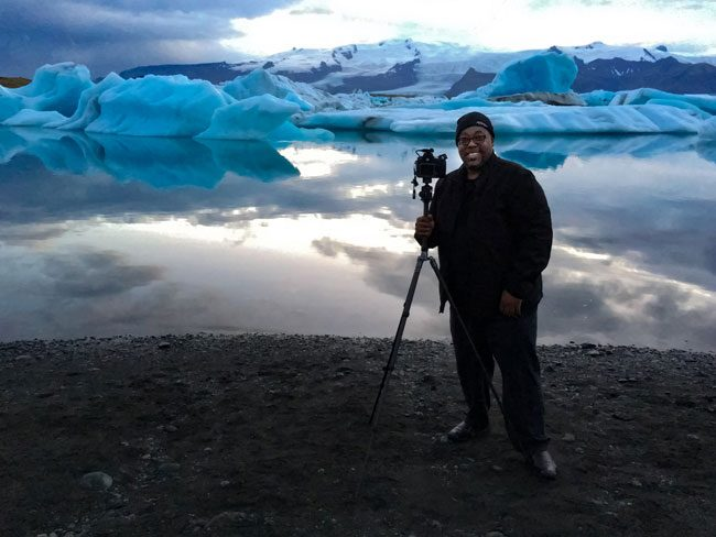 Terry White in Iceland