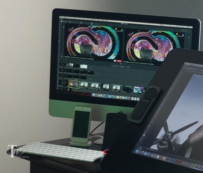 IMac running Wirecast for live streaming