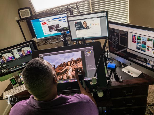 Terry White's Live Streaming Studio Setup