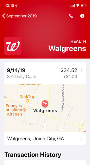 Walgreens 3% Cash Back