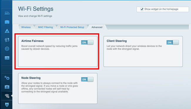 Linksys Velop Web Settings